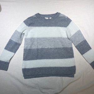 Girls Gap sparkly striped sweater